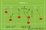 ENTER 4Backs MovesRugby Drills Coaching