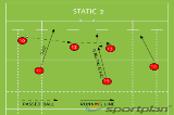 STATIC 2Backs MovesRugby Drills Coaching