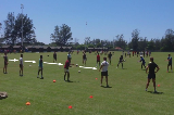 Pendulum passing racePassingRugby Drills Coaching