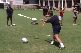 Front on Pendulum passingPassingRugby Drills Coaching
