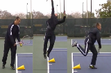 Serve and jump over the cone Drill Thumbnail