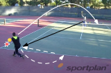 Hitting a simple lob while on the moveMovementTennis Drills Coaching