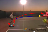 Balance control hitting groundstrokesForehand & Backhand DrillTennis Drills Coaching