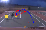 Controlled volley then finish down the line Drill Thumbnail