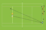 Backhand cross court with quick cones Drill Thumbnail