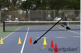 Ad serve + half volley deepVolley DrillsTennis Drills Coaching