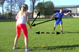 Balance on one leg catchAgility & FitnessTennis Drills Coaching