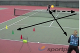 Cross court pattern with smash and backhand volleySmash DrillsTennis Drills Coaching