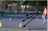 Backhand volley cross court 3 depths Drill Thumbnail