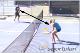 Angle rally (backhand)Volley DrillsTennis Drills Coaching