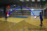 Controlled underhand pass and receive Drill Thumbnail