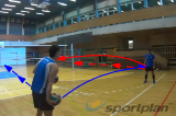 Shuffle and dig4 Passing DrillsVolleyball Drills Coaching